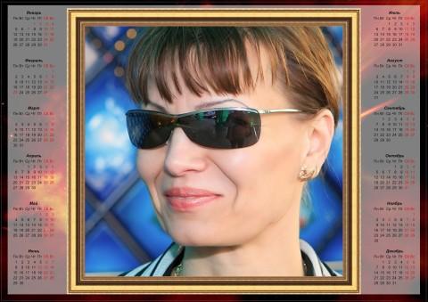 Алина Райт -фотокалендарь на 2009 год