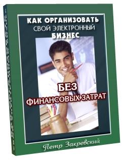 Как организовать свой собственный электронный бизнес без финансовых затрат. Автор Пётр Закревский.
